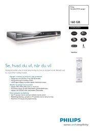 DVDR3450H/58 Philips Harddisk/DVD-optager