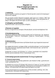 Regulativ for brug af fodgængerarealer mv. i Randers bymidte