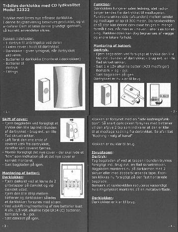 Trådløs dørklokke med CD lydkvalitet Model 32322 - L-Team