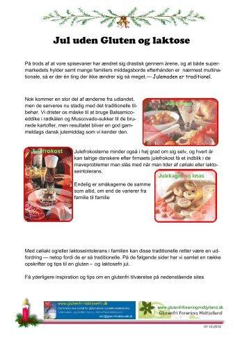 Jul uden Gluten og laktose - glutenfri-laktosefri.dk