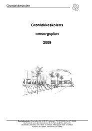 Omsorgsplan - Grønløkkeskolen