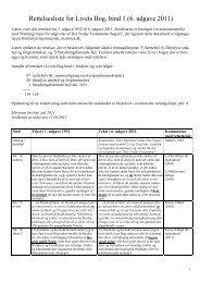 Rettelsesliste for Livets Bog, bind 1 (6. udgave 2011) - Martinus Institut