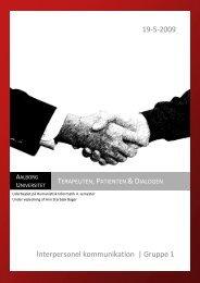 Terapeuten, Patienten & Dialogen - Informati