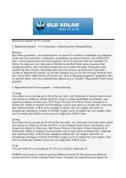 Garantibetingelser - Skive Solceller