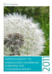 Sundhedsstyrelsens nye retningslinier - DSOG