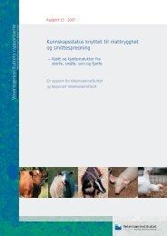 Kunnskapsstatus knyttet til mattrygghet og smittespredning