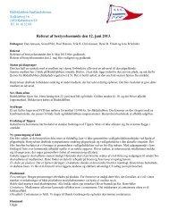 Referat af bestyrelsesmøde den 12. juni 2013. - Bådeklubben ...