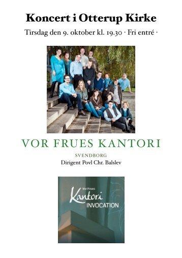VOR FRUES KANTORI Koncert i Otterup Kirke - Otterup Sogn