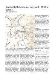 Randbøldal beboelsen er mere end 10.000 år gammel