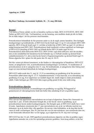 Appelsag 2-2009.pdf - Dansk Sejlunion
