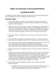 Regler for benyttelse af internetforbindelsen og lokalnetværket