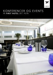 KONFERENCER OG EVENTS - First Hotels
