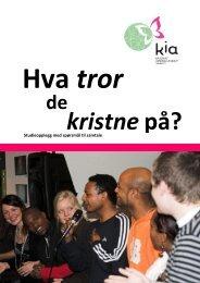 Studieopplegg med spørsmål til samtale - KIA Norge