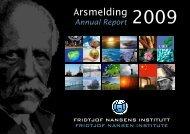 Årsmelding 2009 - Fridtjof Nansens Institutt