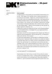 Dimissionstale – 24.juni 2011 - Designskolen Kolding