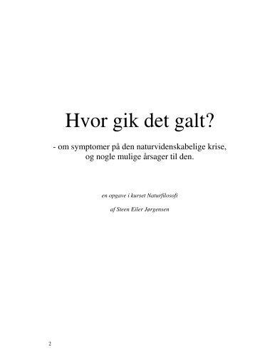 Hvor gik det galt? - Steen Eiler Jørgensen
