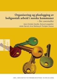 Organisering og planlegging av boligsosialt arbeid i norske ... - Nova