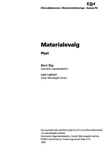 Materialevalg - plast - Materials.dk