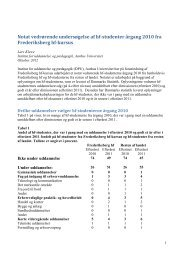 Notat om FHF'erne uddannelsesforløb - Frederiksberg HF Kursus