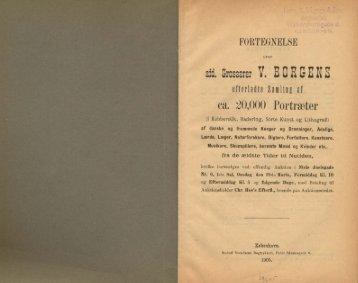 aid. Grosserer V. BORBENS efterladte Sanliii af