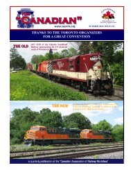 Download PDF Newsletter - Canadian Association of Railway ...