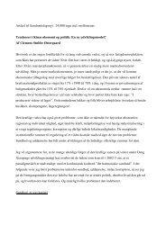 Artikel til Samfundsfagsnyt 24.000 tegn incl. mellemrum Tendenser i ...