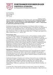 tilsvar rekkeviksgt 9 - Fortidsminneforeningen Vestfold avdeling