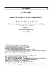 Håndeksem - Operationelle retningslinier for udredning og ... - DDS