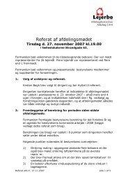 Referat af afdelingsmødet nov. 2007 - Hvide Snit