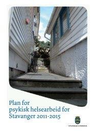 Plan for psykisk helsearbeid for Stavanger 2011-2015 (pdf - 1,2 mb)