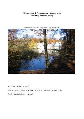 Skitseforslag til faunapassage (pdf, 1761 kb) - Kolding Kommune