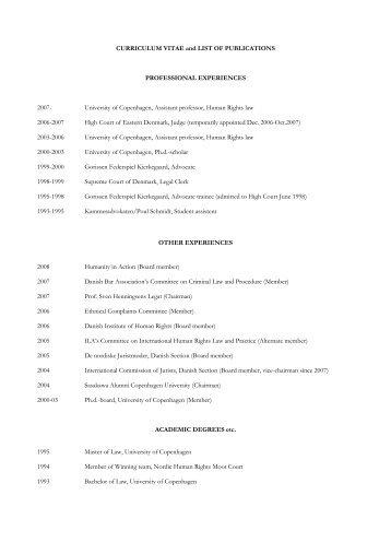 Jonas Christoffersen - Danish Institute for Human Rights