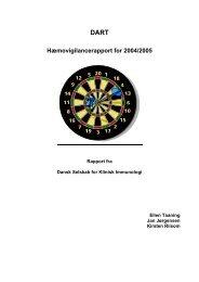 DART Årsrapport 2004-2005 - Haemovigilance