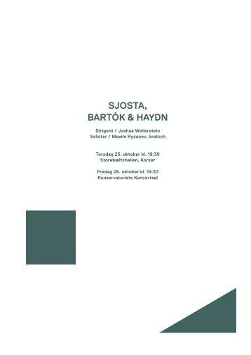 Sjosta, Bartók & Haydn / 25.-26. oktober 2012 - Copenhagen Phil