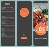 Menukort - Jensens Fiskerestaurant