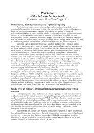 Polyfonia - program - Den kulturelle skolesekken Hordaland
