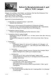 Referat fra Menighedsrådsmøde 5. april 2006, kl. 19.00 i Længen