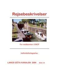 LANGS GÖTA KANALEN 2004