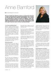 Intervju med Anne Bamford - Kunst og design i skolen