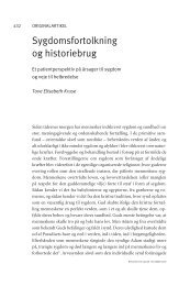 Sygdomsfortolkning og historiebrug - Research in Faith and Health