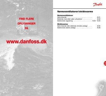 Danfoss A/S | VVS-guiden | Kapitel 8.00 - Danfoss Varme