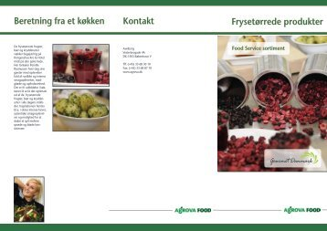 Frysetørrede produkter Kontakt Beretning fra et køkken