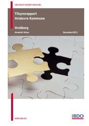 Tilsynsrapport for 2011 - Anmeldt - Hvidborg