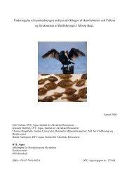 179-08 Undersøgelse af sammenhængen mellem ... - DTU Aqua