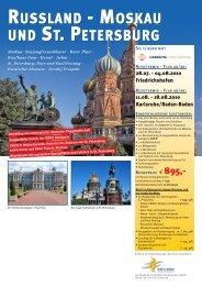 MOSKAU UND ST. PETERSBURG RUSSLAND - bei der SDV in ...