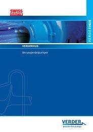 Skruespindelpumper - Verder - Passion for pumps