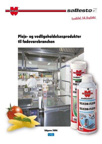 Pleje- og vedligeholdelsesprodukter til fødevarebranchen
