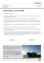 pdf Selskabsmeddelelse nr. 23 - Dampskibsselskabet NORDEN A/S