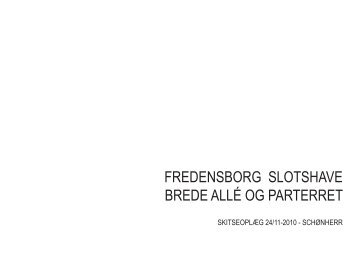 fredensborg slotshave brede allé og parterret - Schønherr