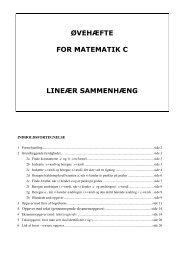 ØVEHÆFTE FOR MATEMATIK C LINEÆR SAMMENHÆNG - FMO